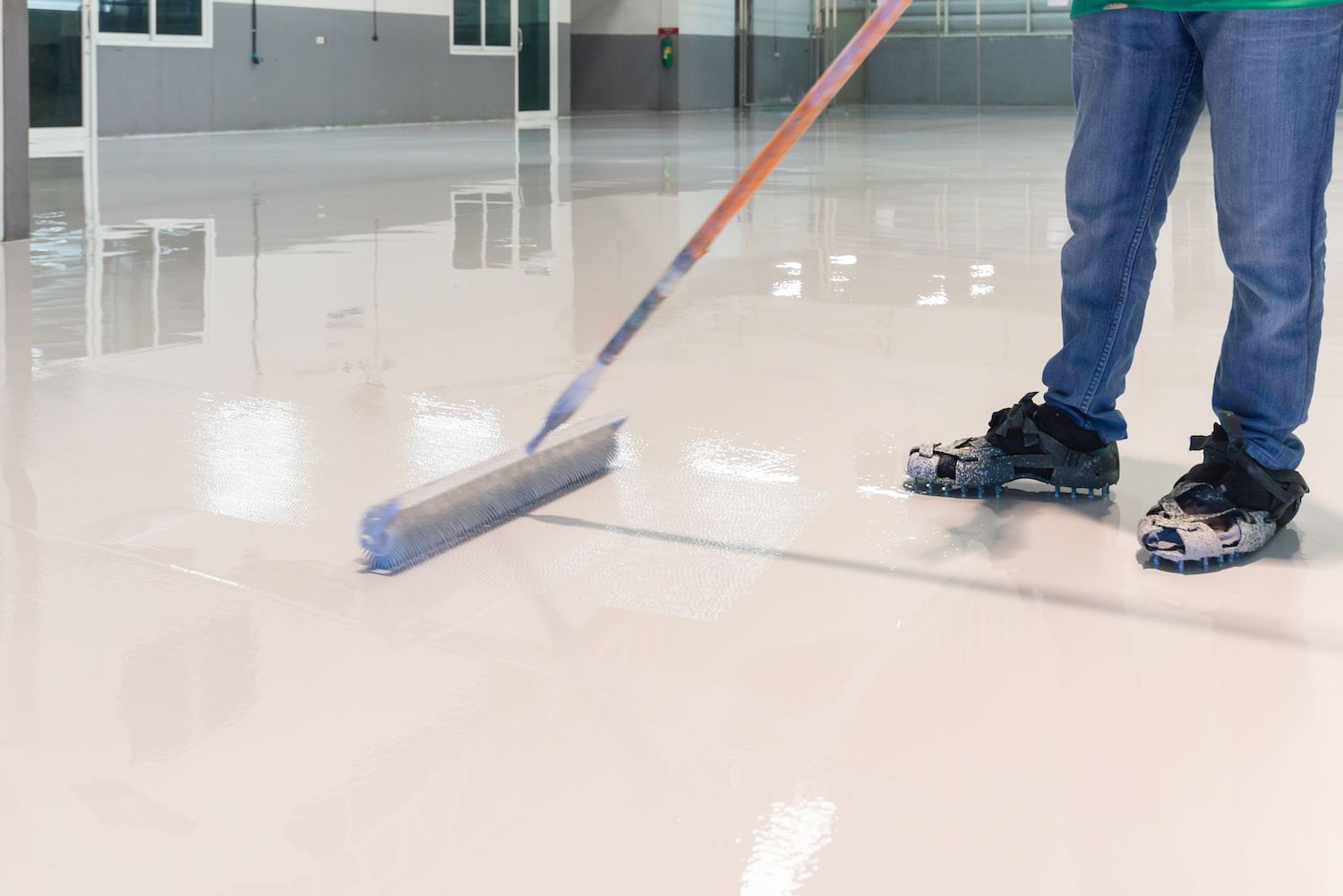 lumberport epoxy floor installation